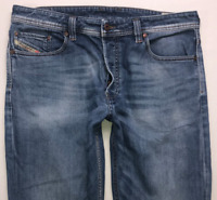 Mens DIESEL Larkee-Relaxed Jeans W34 L32 Blue Comfort Straight Fit Wash 0848C