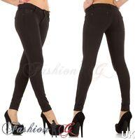Ladies Womens Jeans Skinny Black Slim Fit Stretch Denim Pants UK Size 8 10 12 14