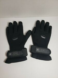 XCEL 5/4 mm Titanium Scuba Diving Gloves Snorkeling Dive Size Medium Glove