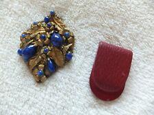 Vintage Costume Jewelry Czech Dress Clips x2
