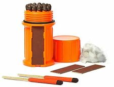 Stormproof Match Kit 25 Matches + Extra Strikers In Orange Waterproof Case UCO