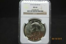 1974 S Eisenhower Silver Dollar Ngc Ms 66