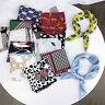 Women Head Neck Tie Bandana Small Square Scarf Handkerchief Silk Feel Satin