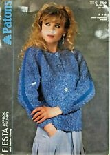 "Patons Knitting Pattern Cardigan Jacket Ladies Size 30-40"" Chunky 3120 Vintage"