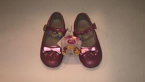 Disney Pink Glitter Flats - Girls Size 13 - Shoe 58664
