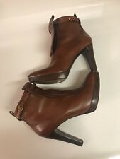 Ralph Lauren Collection Leather Congac Ankle Booties Size 10