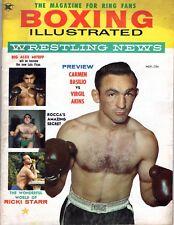 BOXING ILLUSTRATED & WRESTLING NEWS #1 November 1958 1st ISSUE Vintage Magazine