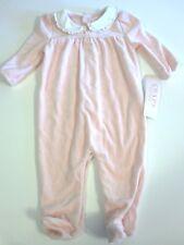 SALE Chaps Size 6 Month Pink Velour Pajama Sleeper Retail $28