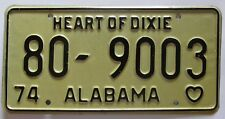 Alabama 1974 License Plate HIGH QUALITY # 80-9003