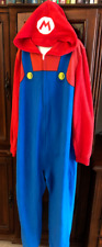 Super Mario Bros Pajamas Costume Boy Girl 14 16 Extra Large 1pc Hoodie Zipper