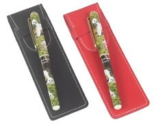 More details for bedlington terrier dog pen with a choice of red or black pen case perfect gift
