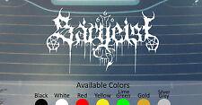 Sargeist Vinilo Autoadhesivo con personalizado talla/color Satanic Warmaster Mgla Goatmoon