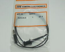 Five Black Pomona Banana Plug to MiniGrabber Test Clip 4650-24-0
