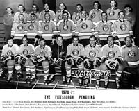 NHL 1970 - 71 Pittsburgh Penguins Team Picture Black & White 8 X 10 Photo Pic
