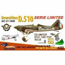 Dora Wings DORADW32005F S. LIMITEE DEWOITINE D.510 GC I:1 1940 CDT PALLIER CHANT