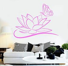 Vinyl Wall Decal Lotus Flower Butterfly Beauty Salon Spa Stickers (256ig)
