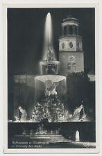 AK Hofbrunnen u. Glockenspiel in Salzburg bei Nacht 1940 (Y865)