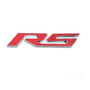 Silver Red RS Logo Car Door Fender Rear Trunk Lid Emblem Badge Fit for Chevrolet
