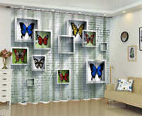 Many Butterfly Specimen 3D Curtain Blockout Photo Printing Curtains Drape Fabric