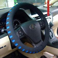 "Black+Blue Eva Foam Sport Soft Car Steering Wheel Cover Cap Anti-slip 38cm/14.9"""