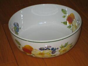 Royal Worcester Fine Porcelain Large Salad SERVING BOWL Ashford Green Trim