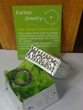 Jewellery 925 Silver Karma Ring Size 7 | 7.5