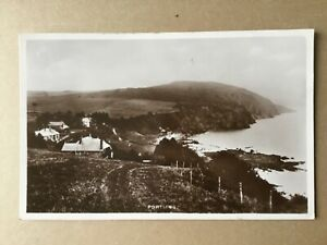 Portling view to houses above the bay c.1930? RP postcard nr Dumfries
