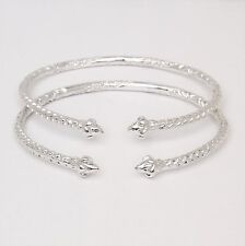 Indian Bangles (Made In Usa) Pointy Ends .925 Sterling Silver West