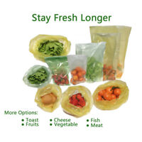 Keep Stay Fresh Longer Green Bags Storage Vegetable Fruits Greenbags M Size 50PC