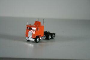 HO Scale Orange Cab Over Freightliner Tractor