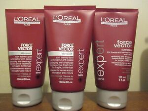Lot of 3 L'Oreal Force Vector Glycocell  thermo-active treatment 5 oz