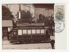 FRANCE CARTE MAXIMUM 1989 Tramway électrique PUB suprême Pernot /T2465