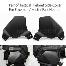 Tactical Rubber Side Cover Rail Ear Protector For Emerson Mich Fast Helmet