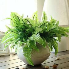 Verde imitación helecho plástico artificial hierba hoja planta IniciobodadecorSE