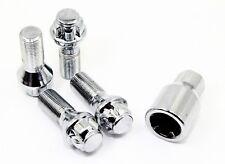 4 14x1.25 28mm Chrome Wheel Locks BMW 428i 435i M4 528i 535i 550i M5 4 5 Series