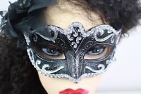 Masquerade  Ball Mask Silver & Black Stag Hen Party Balls Fancy Dress Masks