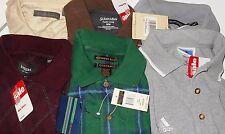 Adidas, Alexander Julian, Murano etc LOT 6 Men Medium Polo Sweaters NWT LOT 2130