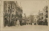 Lake Placid NY Street Scene in Winter Downtown c1910 Real Photo Postcard
