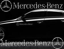 2x Mercedes Benz Aufkleber Stern Chrom Folie Seitenaufkleber Sticker Tuning Logo