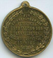 GX001 - Medaille Enthüllung des Maria-Theresia-Denkmals Wien Mai 1888 Österreich