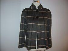 Zara grey check wool blend swing-back car coat, XS, UK 8-10, BNWT, RRP £49.00