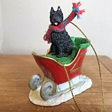 Bouvier des Flandres Christmas Ornament Black Sleigh Dog New