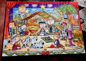 "Springbok ""Merry Christmas Everyone"" Peanuts 100 Pcs Jigsaw Puzzle 14"" X 19"" EC"