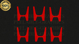 """6 Honda """"H"""" Vinyl Small Tiny 1"""" Decal Decals Sticker Stickers Graphic"""