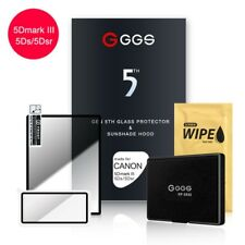 GGS for Canon 5D3/5DS/5DSR 5th Glass Screen Protector and Sunshade Hood