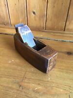 Vintage Wooden Small Coffin Plane - Block Bench Plane - Stamped BRITISH MADE