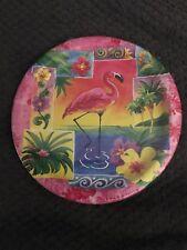 "Converting Tropical Paradise Hawaiian Luau Flamingo 7"" Dessert Plates (8 Ct)"