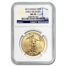 2014 1 oz Gold American Eagle MS-70 NGC (Early Releases) - SKU #79332