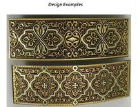 Damascene Gold Rectangle Hair Barrette Geometric by Midas of Toledo Spain 2346Ge