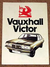 1974 VAUXHALL VICTOR Sales Brochure - Saloon & Estate 1800 & 2300